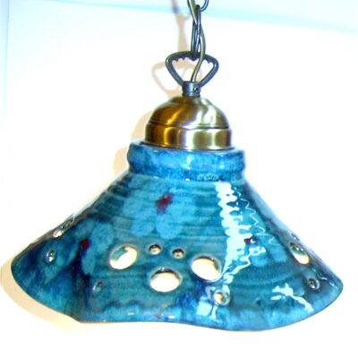 Flyteglasur keramikklampe