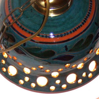 Trønderkeramikk lampe