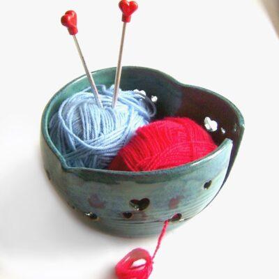 Garnbolle strikkebolle hjertefasong